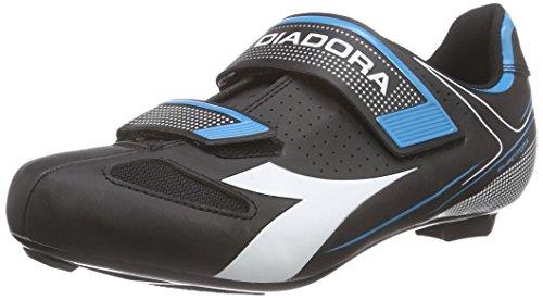 Diadora PHANTOM II, Unisex-Erwachsene Radsportschuhe – Rennrad, Schwarz (black/white/blue fluo5193), 43 EU