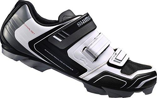 Shimano Fahrradschuhe MTB Radschuhe SH-XC31W GR. 44 SPD 3 Klettverschl., Unisex-Erwachsene Radsportschuhe – Rennrad, Weiß (White), 44 EU