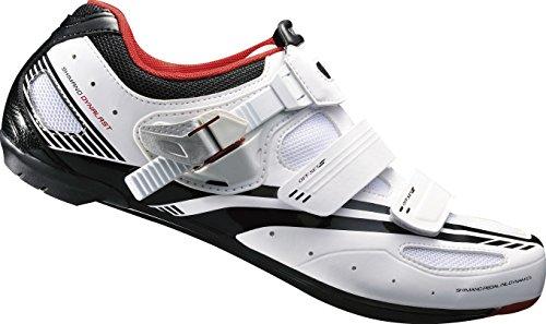 Shimano Erwachsene Fahrradschuhe Rennradschuhe SH-R107W GR. 40 SPD-SL SPD Klett-/Ratsche, mehrfarbig, 40, E-SHR107W40