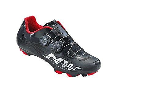 NORTHWAVE BLAZE PLUS Rennradschuh Schuhe SPD black-white-red, Größe:Gr. 45
