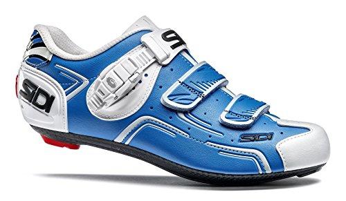Sidi Level Rennradschuhe Blau/Weiß, 40